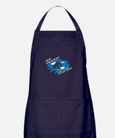The Puck Stops Here Apron (dark)