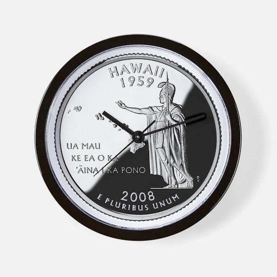 Hawaii Quarter Wall Clock
