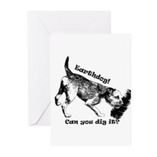 Cute Border terrier Greeting Cards (Pk of 20)