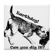 Funny Border terrier Tile Coaster