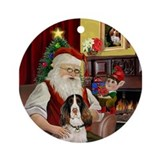 Springer spaniel christmas Round Ornaments