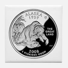 Alaskan Quarter Tile Coaster