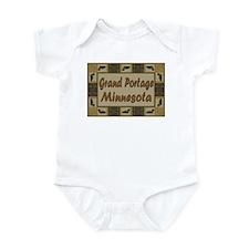 Grand Portage Minnesota Loon Infant Bodysuit