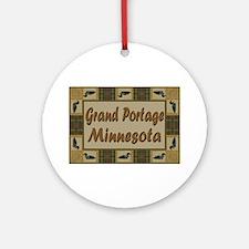 Grand Portage Minnesota Loon Ornament (Round)