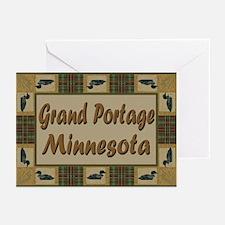 Grand Portage Minnesota Loon Greeting Cards (Pk of