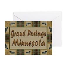 Grand Portage Minnesota Loon Greeting Card