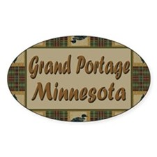 Grand Portage Minnesota Loon Oval Decal