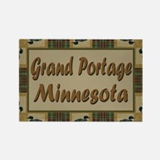 Grand Portage Minnesota Loon Rectangle Magnet (10