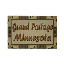Grand Portage Minnesota Loon Rectangle Magnet (100