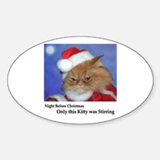 Santa Squishy Oval Decal