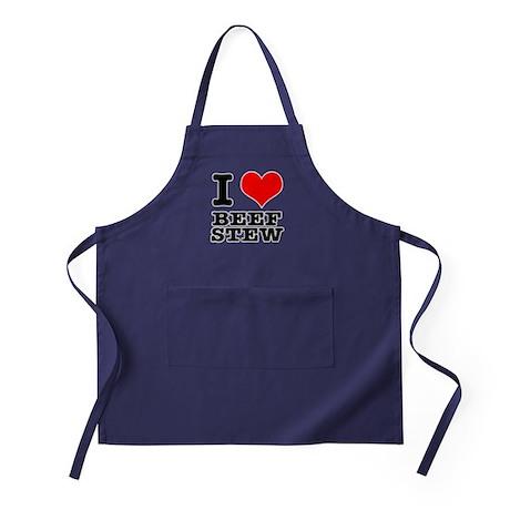 I Heart (Love) Beef Stew Apron (dark)