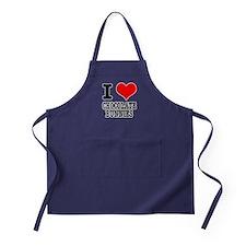 I Heart (Love) Chocolate Bunn Apron (dark)