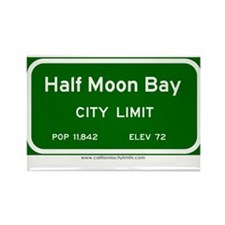 Half Moon Bay Rectangle Magnet