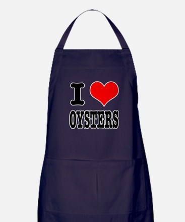 I Heart (Love) Oysters Apron (dark)