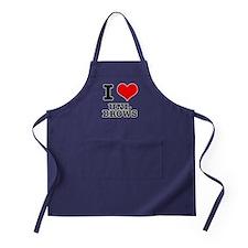 I Heart (Love) Unibrows Apron (dark)