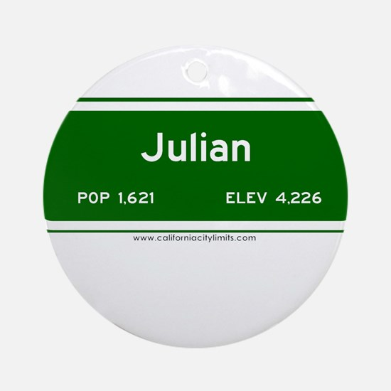 Julian Ornament (Round)