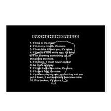 Dachshund Rules Postcards (Package of 8)
