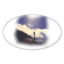 Lone Hiker Oval Decal