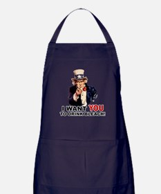 Want You To Drink Bleach Apron (dark)