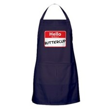 Hello My Name is Buttercup Apron (dark)