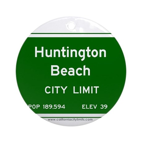 Huntington beach ornament round by calcitylimits1 for Huntington card designs