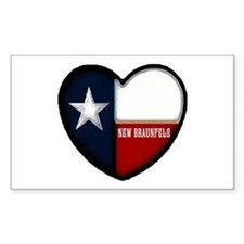 I heart New Braunfels Rectangle Decal