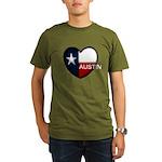 Austin Heart Organic Men's T-Shirt (dark)