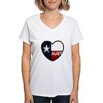 Austin Heart Women's V-Neck T-Shirt