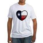 Austin Heart Fitted T-Shirt