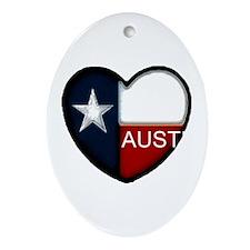 Austin Heart Oval Ornament
