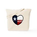 Austin Heart Tote Bag