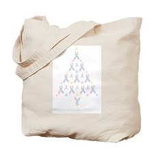 CDH Awareness Ribbon Christmas Tree Tote Bag