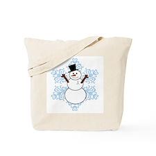 CDH Awareness Ribbon Snowman Tote Bag