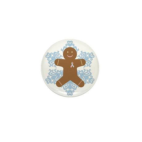 CDH Awareness Ribbon Gingerbread Man Mini Button (