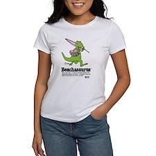 Beachasaurus Women's White T-Shirt