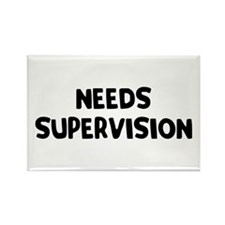 Needs Supervision Rectangle Magnet