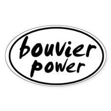 Bouvier POWER Oval Decal