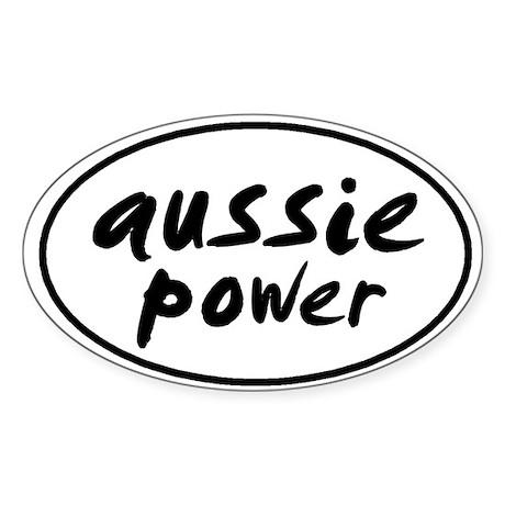 Aussie POWER Oval Sticker