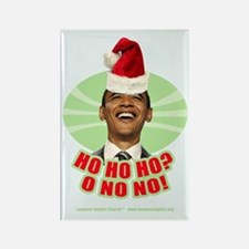Ho Ho Ho? Obama No No No! Rectangle Magnet