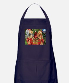 Christmas Bulb Dogs Apron (dark)