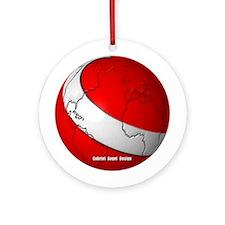 Scuba World Ornament (Round)