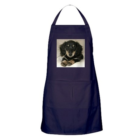 Long Haired Puppy Apron (dark)
