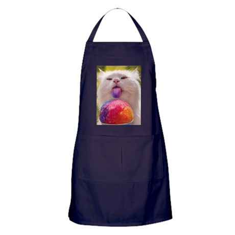 Colorful Kitty Apron (dark)