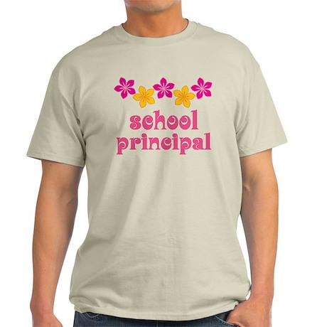 Floral School Principal Light T-Shirt