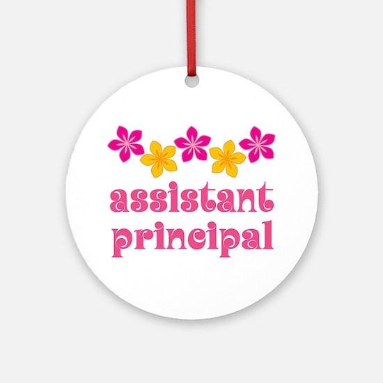 Floral School Principal Ornament (Round)