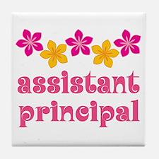 Floral School Principal Tile Coaster