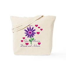 Live, Love, Learn Tote Bag