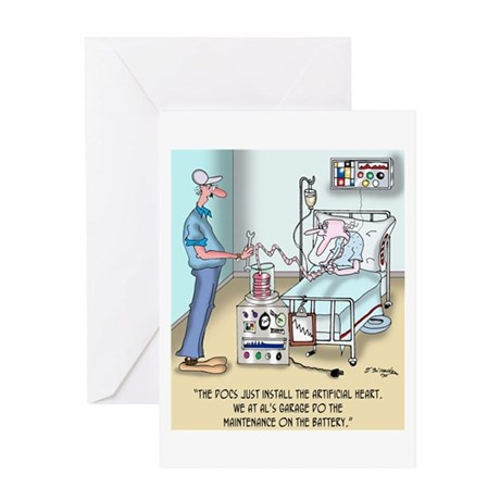 The Docs Just Install the Heart Greeting Card