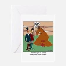 Don't Laugh at Yoga for Horses Greeting Card