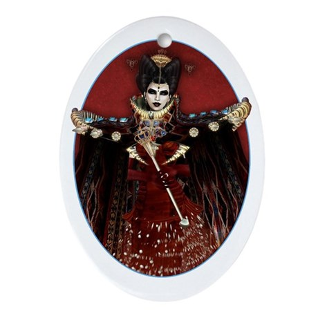 Queen of Hearts Oval Ornament